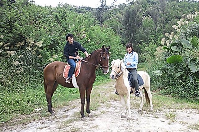 【沖縄・宮城島・乗馬体験】馬に乗って登山しよう!山コース・90分