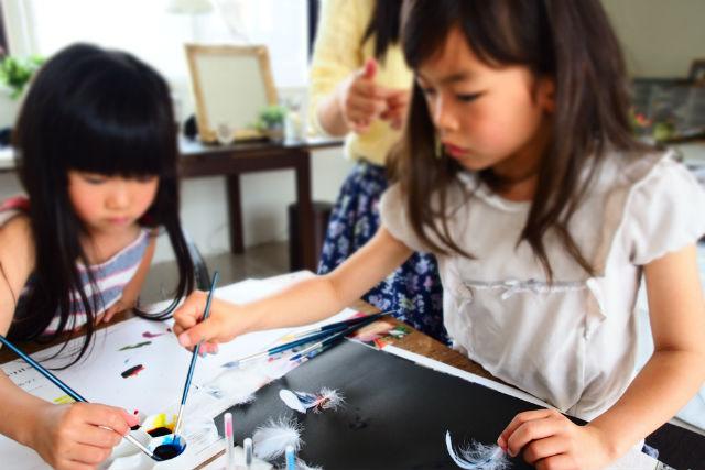 【岡山市・絵画教室】お絵かきしながら作品をつくろう!子ども向け・工作体験