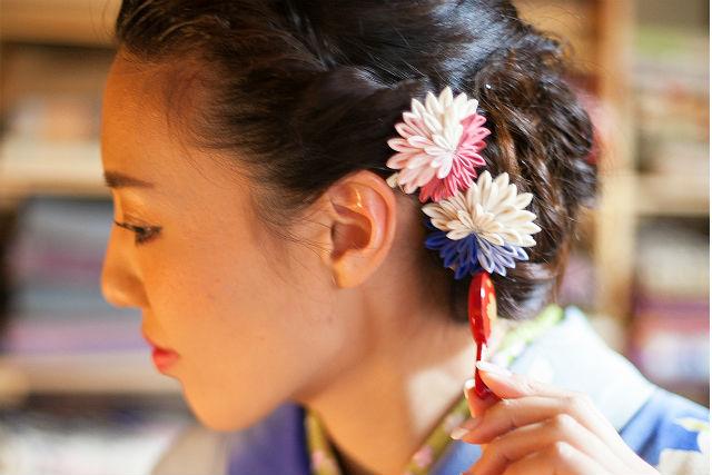 【熊本・山鹿温泉・着物レンタル】お祝いの席に華を添えましょう!およばれ着物プラン