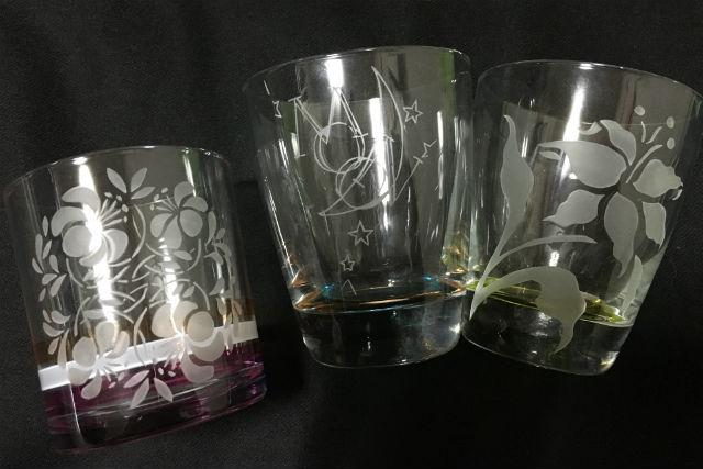 【秋田県秋田市・ガラス体験】ワイングラスやお皿に模様を描こう!サンドブラスト体験