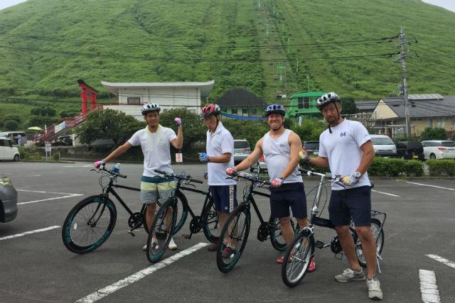 【伊豆高原・レンタサイクル】温泉入浴券・ガイドつき!ダウンヒルサイクリング・城ヶ崎コース