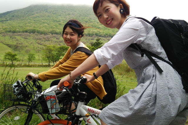 【大分・由布岳・レンタサイクル】ショートコースで気軽に周る由布岳サイクリング(別府方面)