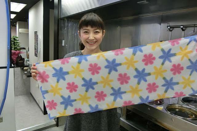 【京都・染物体験】できあがった模様に感動!気軽にできる雪花絞り染め手ぬぐいプラン