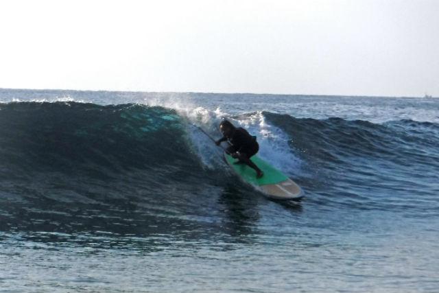 【沖縄・北部・SUP】沖縄の海でサーフィンしよう!SUPサーフィン(1ラウンド)