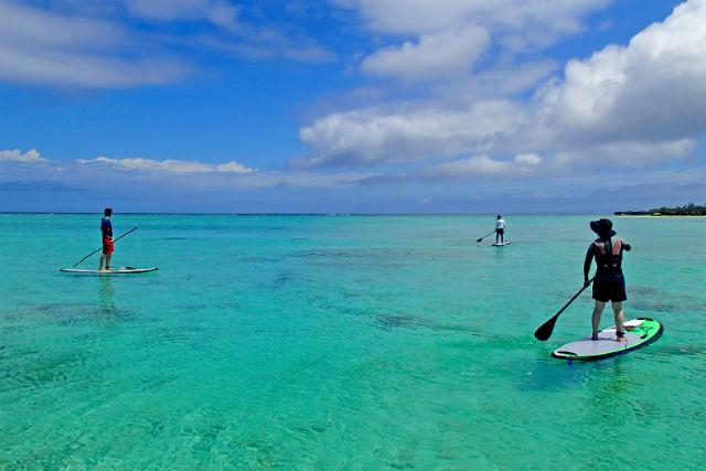 【沖縄・北部・SUP】サンゴ礁の海をツーリング!SUP体験プラン
