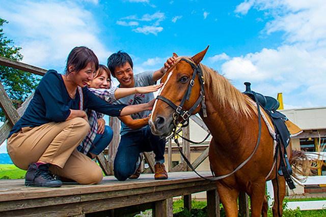 【熊本・阿蘇・乗馬】大自然を一望できるパノラマビュー!乗馬体験インディアンコース