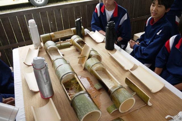 【鳥取・竹細工】竹で炊いたご飯を食べよう!竹林整備と竹で作る食器プラン