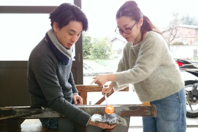 【鳥取・米子・ガラス細工】ガラス作りの魅力満載!全工程ができる吹きガラス体験