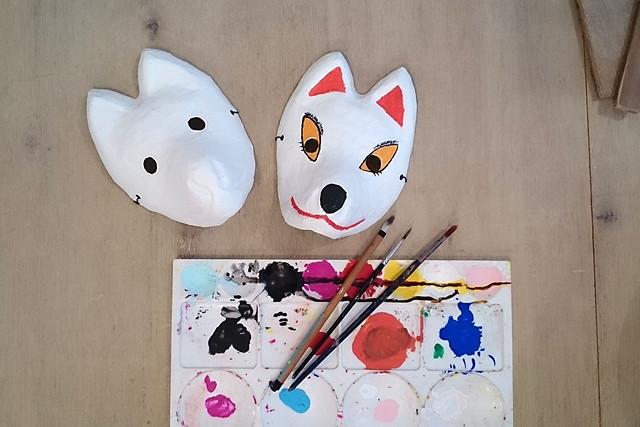 【山口・湯田温泉・陶芸体験】お子さまも楽しめます!キツネのお面に絵付けしよう