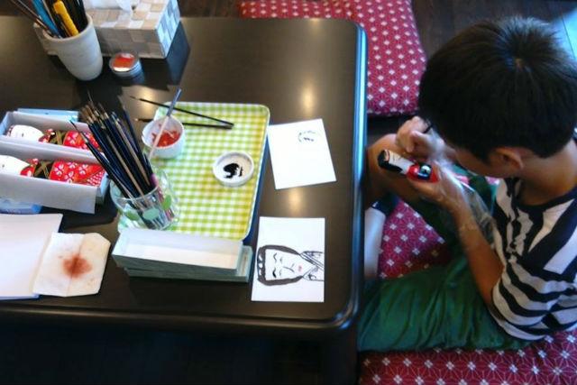 【鳥取・人形作り】オリジナルの人形ができあがる!はこた人形・顔描き体験