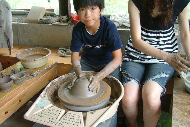 【会津・陶芸体験・電動ろくろ】使い放題の土で何度でも挑戦!満足度の高い陶芸体験