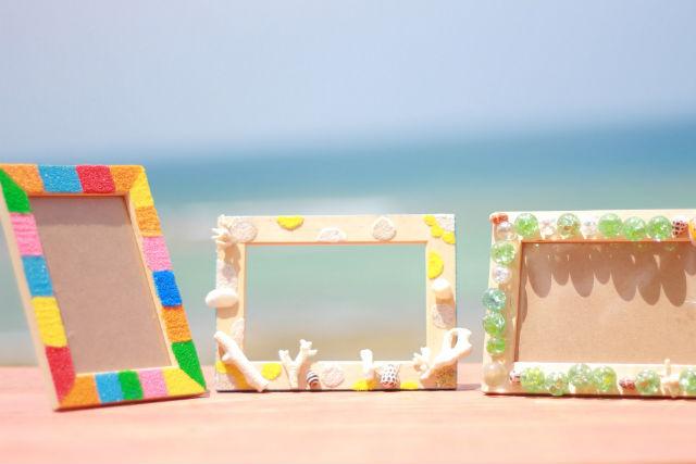 【沖縄北部・マリンクラフト】沖縄の写真を飾ろう!海を感じるフォトフレーム作り