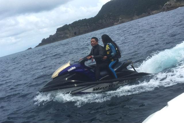 【兵庫・水上バイク】海から見る、山陰海岸ジオパークの眺め!三尾海岸コース
