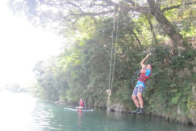 【宮崎・SUP】たくさん遊んで思い出づくり!釣りやターザンロープで清流の自然を大満喫しよう