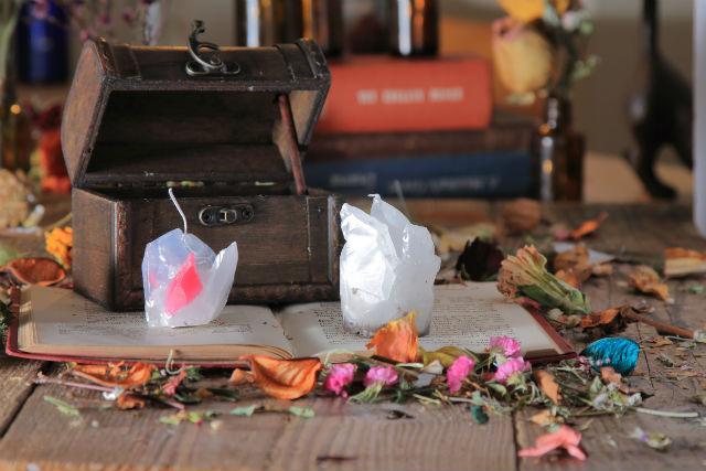 福岡・ 天神駅から徒歩5分・季節限定キャンドルづくり(8~10月限定:ジェーンストーンキャンドル)