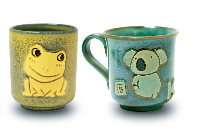 【滋賀・布引焼・陶芸】七彩天目ならではの色合い!マグカップに立体的なイラストを描こう