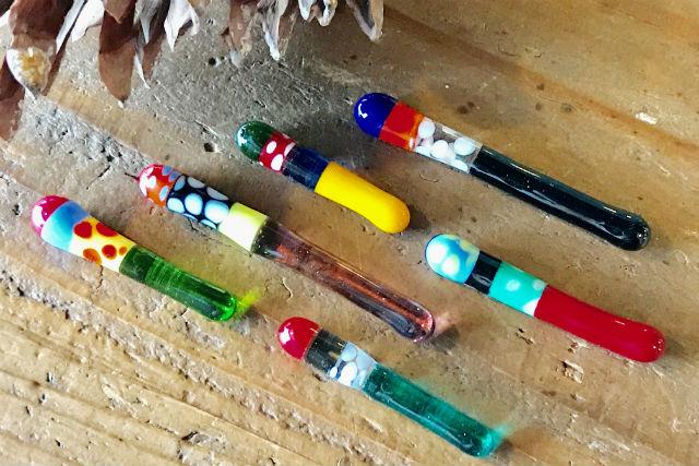 京都・ガラス細工(ガラスの箸置き2個セット)