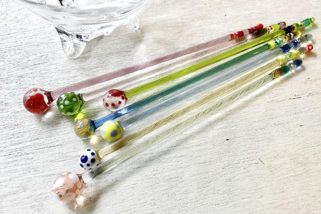 京都・ガラス細工(ぷるん♪と丸いマドラー)