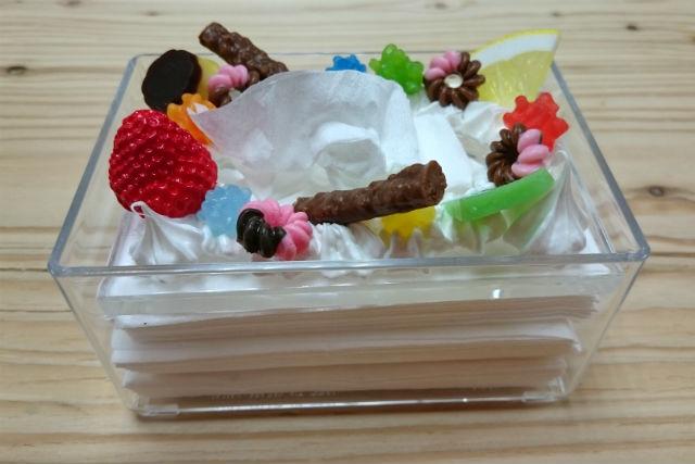 【岐阜・食品サンプル体験】ポケットティッシュが美味しそう!デコケーキみたいなケース製作
