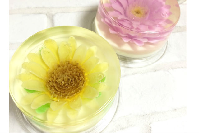 【京都・西京区・フラワーゼリー】ぷるんと咲き誇る、ゼリーのお花!フラワーゼリーケーキをつくろう