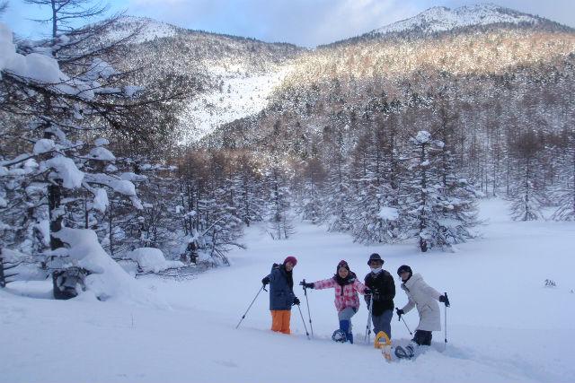 【軽井沢・スノーシュー・1日】フカフカの雪を満喫!雪原バックカントリー