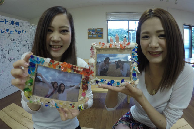 【沖縄・恩納村・マリンクラフト】2歳から参加OK!海ピクニック&フォトフレーム作り