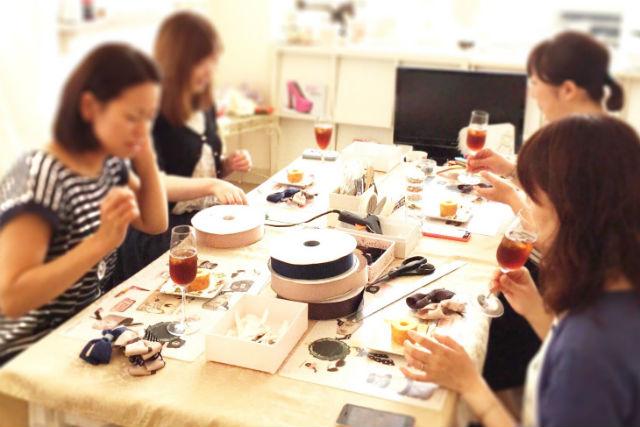 【仙台・アクセサリー手作り体験】気軽なトライアルプラン。かわいいリボンを作ろう