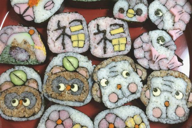 【大阪・住吉・料理教室】キュートな柄に歓声があがる!デコ巻き寿司をつくろう