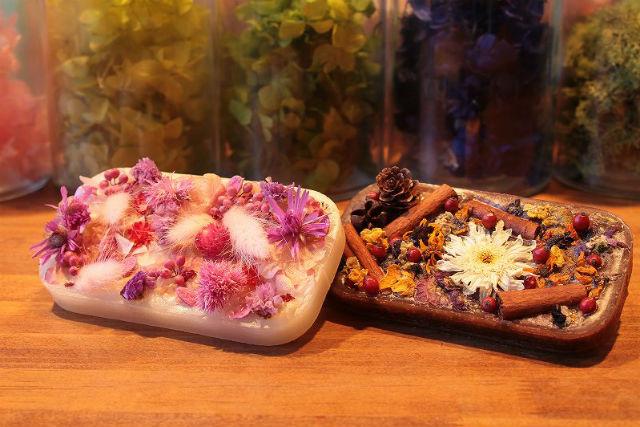 【宮城・仙台・キャンドル作り】自然の恵みをたっぷりのせて。香りも楽しむアロマタブレット