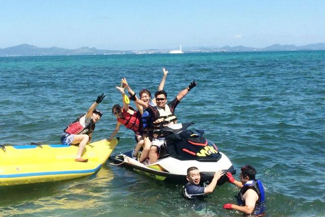 【沖縄・水上バイク】美ら海の上を滑るように駆け抜けよう!水上バイクレンタル