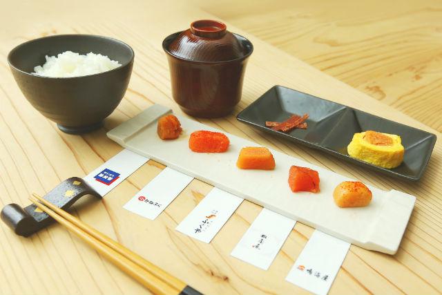 【福岡・中央区・料理体験】お土産にもう迷わない!5種の明太子を食べくらべしよう!