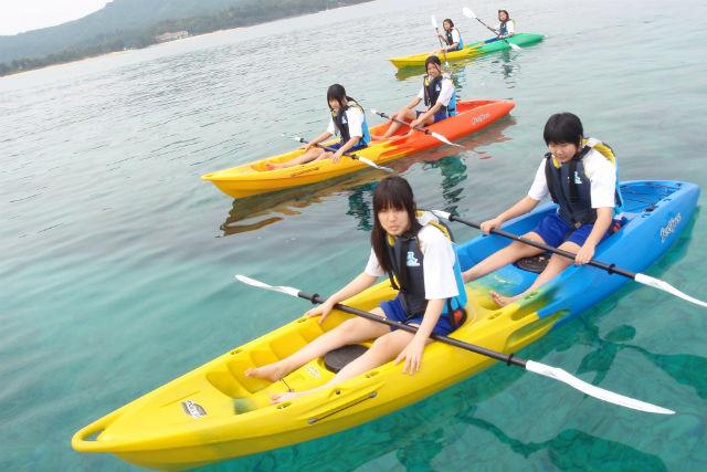 【沖縄・恩納村・水上バイク】3種類セット!水上バイク&カヤックツーリング&ドラゴンボート
