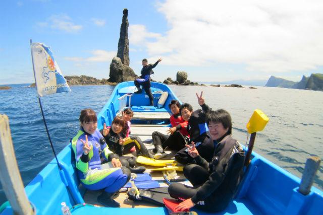 【北海道・札幌発・積丹・ダイビング】積丹ブルーを満喫!ロウソク岩・ボートファンダイビング(2ダイブ)