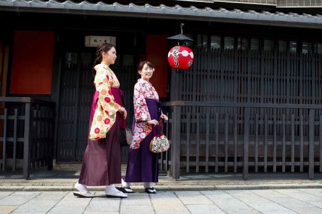【京都・東山・着物レンタル】和服での京都観光もらくらく!袴レンタル・選べるブランドコース