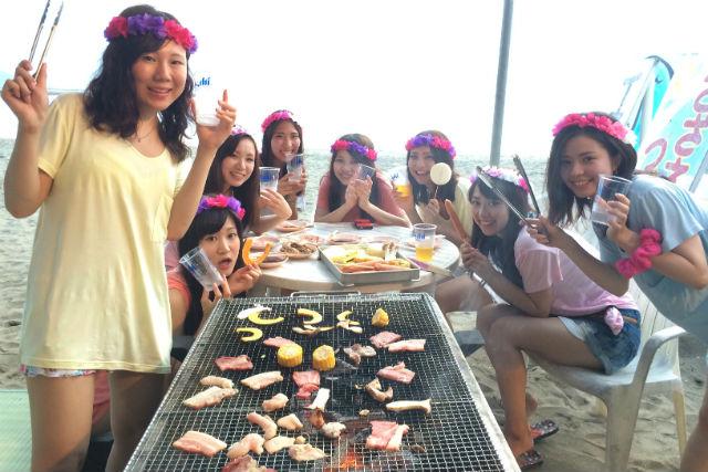 【 福井・三国・サーフィン】海の家「浜茶屋」でBBQ&サーフィン基礎レッスン!
