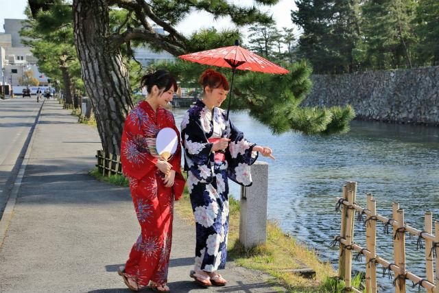 【島根・松江・浴衣レンタル】浴衣姿で、松江をぶらりと町歩きしよう!