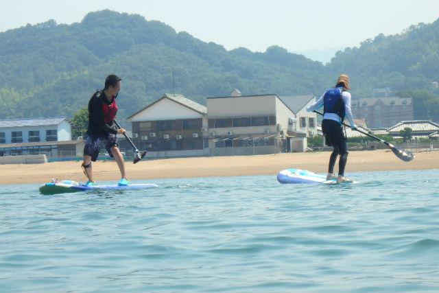 【香川・SUP】経験者向けの3時間レンタル!「日本の渚百選」認定の海で、SUPツーリング!