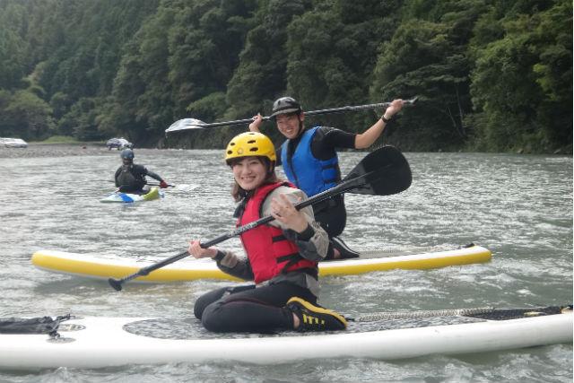 【静岡・浜松・SUP】流れがゆるやかで安心!SUP・気田川ツアー(半日)