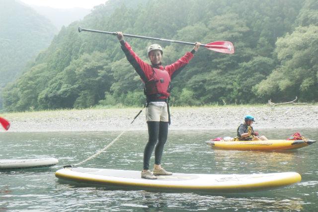 【静岡・浜松・SUP】初めてでも乗れます!SUP・気田川ツアー(1日)