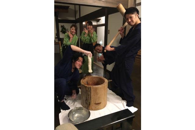 【新潟・料理体験】「お米のまち」魚沼ならでは!昔懐かし餅つき体験