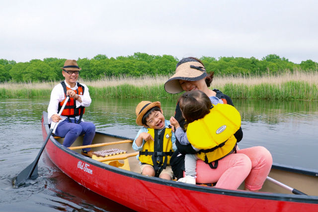 【北海道・苫小牧・カヌー】1歳から参加OK!水鳥が多い美々川を、カヌーくだりで満喫!