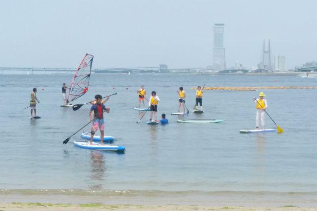 【大阪・SUP】2つの海遊びを満喫!SUP&ウインドサーフィン