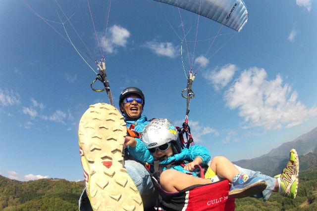 【茨城・石岡市・パラグライダー】キッズチャレンジ・二人乗り体験コース