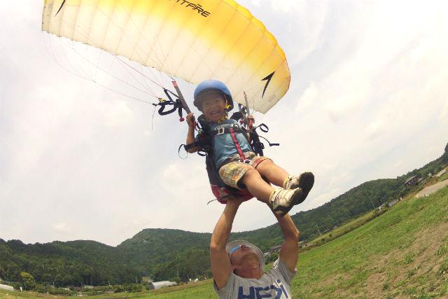 【茨城・石岡市・パラグライダー】キッズチャレンジ・ちょい飛びコース