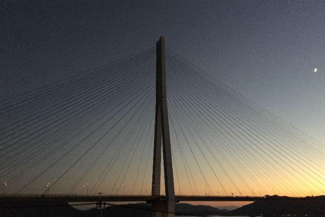 【広島・生口島・ポタリング】多々羅大橋からサンセットビーチへ!美しい夕景の自転車散歩