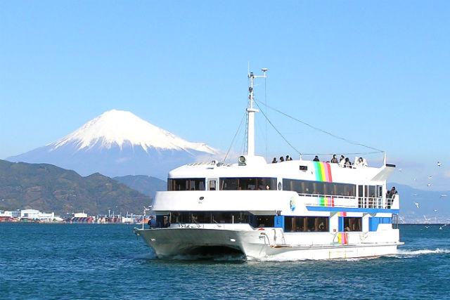 【静岡・クルージング】ブッフェ&クルーズ&ちびまる子ちゃんランドがセットに!富士山眺望クルーズ