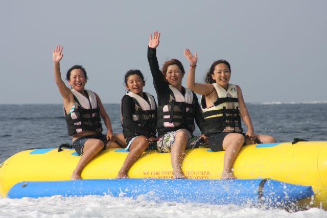 【静岡・西伊豆・バナナボート】海の家利用・海鮮バーベキュー付き!大瀬崎1日満喫プラン