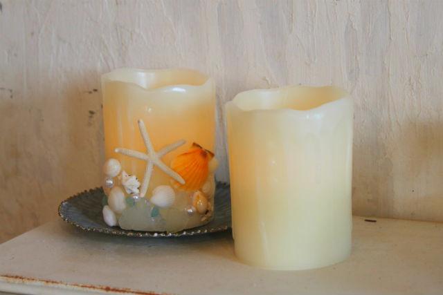 【徳島・キャンドル作り】どこでも飾れるのが嬉しい!海のLEDキャンドル作り