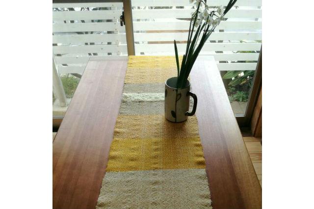 【神奈川・鎌倉・機織り】海の見えるアトリエで織ろう。草木染めのテーブルセンター