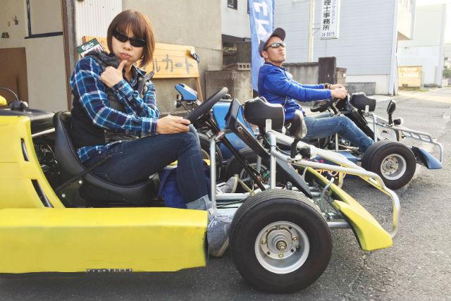 【島根・松江・公道カート】ガイド付きで大満足!松江の名所へゴーカートを走らせよう